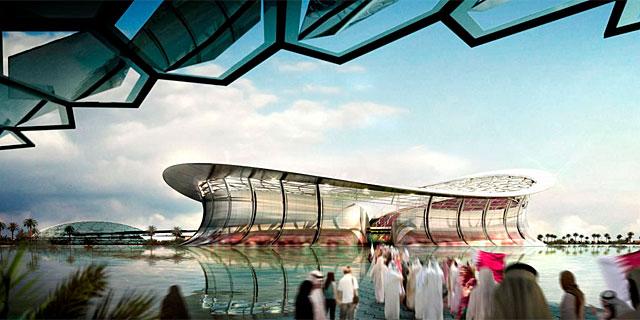 Recreación de uno de los estadios previstos para el Mundial 2022.