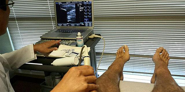 Imagen de la revisión médica de Pau Gasol colgada en su cuenta de Twitter. | Foto: @paugasol