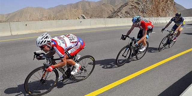 Joaquim Rodríguez, Chris Froome y Alberto Contador, durante el último Tour de Omán. (Foto: Efe)
