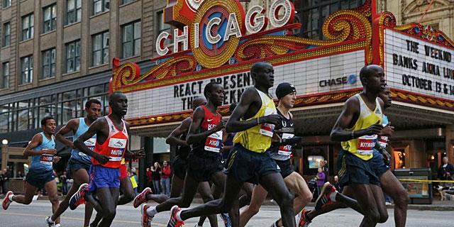 Kimetto durante la maratón de Chicago. Foto | Reuters