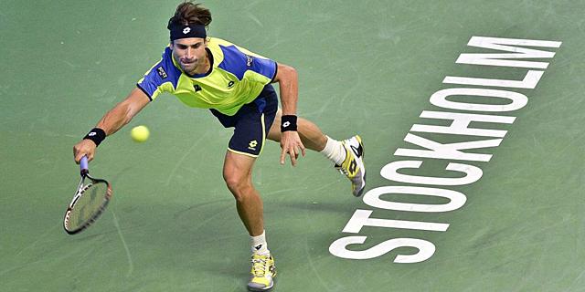 David Ferrer, durante su encuentro de semifinales ante Gulbis. | Efe