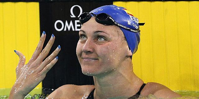 Melani Costa, feliz tras el éxito. | REUTERS