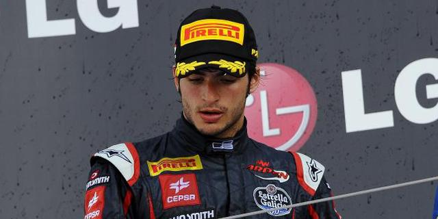 Carlos Sáinz Jr tras ser segundo en Hungría. | EL MUNDO