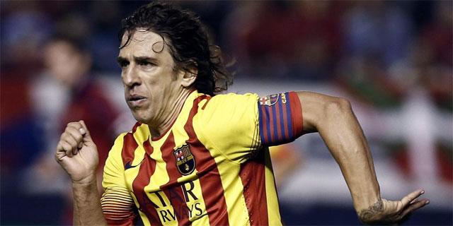 Puyol, durante el partido frente a Osasuna. | Efe