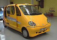 Un prototipo OneCAT con motor de aire comprimido en versión taxi.
