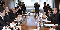 El Ministro de Industria con representantes de Nissan. Foto:EFE