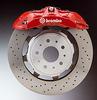 Disco de freno flotante dual cast de la empresa Bembro.