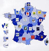 Logos de las distintas regiones francesas.