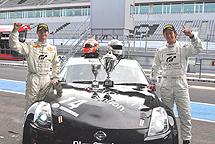 Ordóñez y Buncombe tras la carrera.