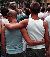 Una pareja gay. (Foto: Iñaki Andrés)