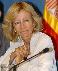 Elena Salgado durante la presentación del informe 'La situación del cáncer en España'. (Foto: J.L. Pino | EFE)