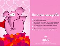 'Te voy a decir en tres palabras cuánto te quiero...: Hazte una mamografía', lema de la AECC para el 19 de octubre