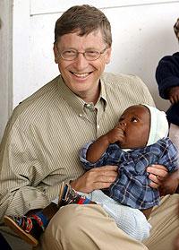 El presidente de Microsoft, durante una visita a Mozambique. (Foto: El Mundo)