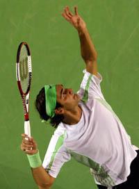 El tenista Roger Federer, en el Open de Australia, (Foto: Bárbara Walton | EFE)