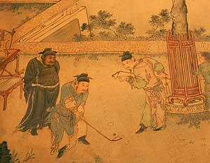 'El banquete de otoño', pergamino de la dinastía Ming. (Foto: Bobby Yip | Reuters)