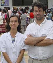 Clara Menéndez y Pedro Alonso (Foto: Clínic)