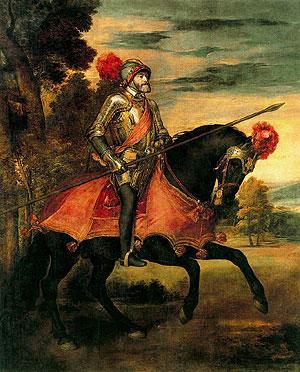 'Carlos V a caballo en Mühlberg', de Tiziano (Museo Nacional del Prado)