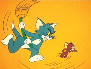 Fotograma de la serie de dibujos animados, Tom y Jerry.