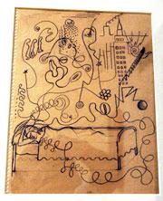 Boceto de 'El sueño', incluido en una de sus cartas a Eloesser (Foto: EFE)