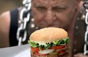 Una imagen del nuevo anuncio de Burger King