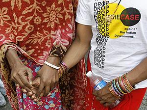 Protestas contra Novartis en las calles de Nueva Delhi (Foto: Reuters | Adnan Abidi)
