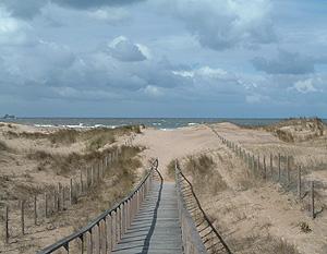 Una imagen de la playa de Liencres tomada por Roberto durante sus paseos
