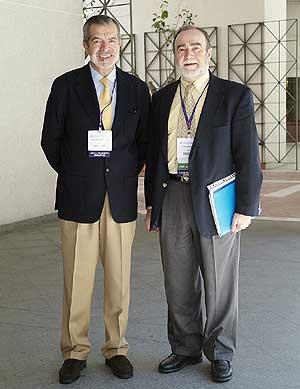 Jerónimo Saíz y Julio Bobes durante el congreso. (Foto: Europa Press)