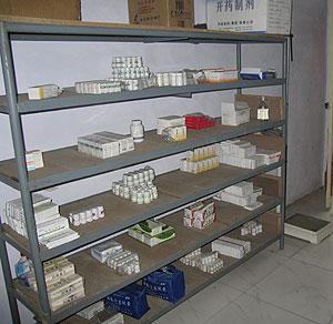 Fármacos antirretrovirales en una clínica rural de China. (Foto: Reuters)