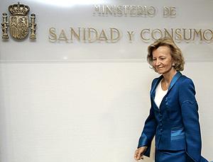 Elena Salgado, antes de la presentación de la página web (Foto: EFE)