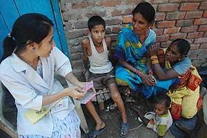 Una asesora de la Sociedad de Prevención del Sida en La India. (Foto: Anupam Nath   AP)