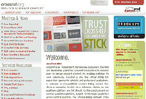 Portada de la página web de CrossRef (Foto: El Mundo)