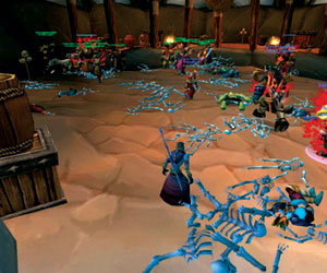 World of Warcraft durante el brote. (Blizzard Entertainment|The Lancet Infectious Diseases)