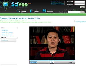Uno de los científicos que presenta su trabajo en la página web 'SciVee'.