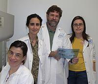 De izquierda a derecha, Marta, Candelaria, Juan y Vanesa