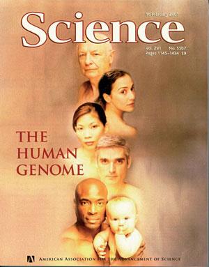 Portada de 'Science' en 2001 con la publicación del genoma humano.