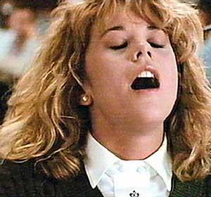 Meg Ryan finge un orgasmo en la película 'Cuando Harry encontró a Sally'.