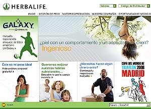 Imagen de la página web de la empresa.