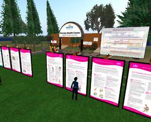Imagen de la isla de la salud en Second Life