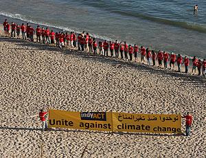 Activistas libaneses contra el cambio climático (Foto: AFP)
