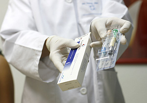 Una de las dos vacunas autorizadas en España (Foto: Alberto Di Lolli)