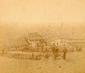 Imagen de Kinshasa datada entre 1883 y 1885, poco después de su fundación. (Foto: Nature)