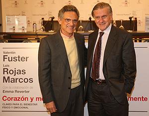 Valentin Fuster y Luis Rojas Marcos durante la presentación del libro (Foto: Alberto Cuellar)
