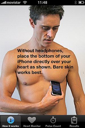 Instrucciones sobre la aplicación Heart Monitor.
