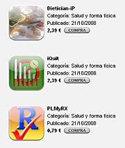 Algunos de los programas presentes en iTunes.