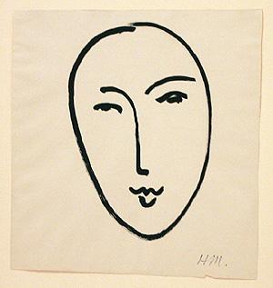 'Rostro grande (Máscara)' de Henri Matisse en el Museo Picasso de Málaga. (Foto: Antonio Pastor)