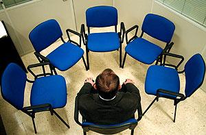 Alumno del programa de formación a maltratadores de Alicante. (Foto: Ernesto Pastor)