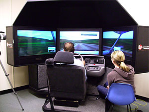 Simulador utilizado en una de las investigaciones. (Foto: Nate Medeiros-Ward)
