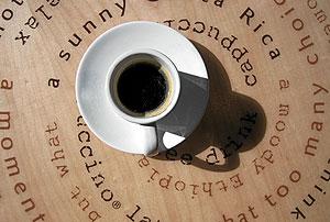 Taza de café solo. (Foto: Bernabé Cordón)