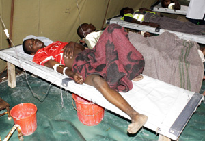Un paciente con cólera en Lusaka,capital de Zambia (Foto: Reuters)