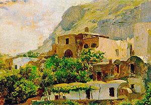 'Paisaje de Capri', de Francisco Pradilla, uno de los cuadros reproducidos con permiso del Museo del Prado para el ensayo
